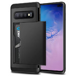 Tough Armour Card Holder Slide Case for Samsung Galaxy S10+ (Black)